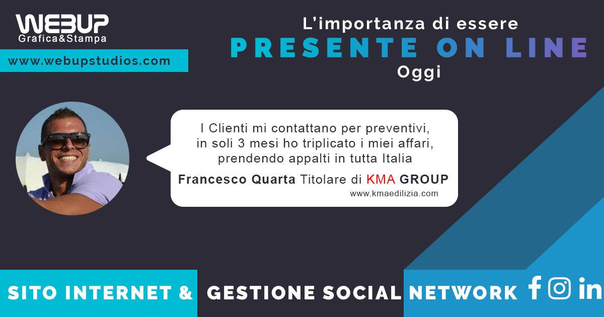 gestione social network progettazione sito internet