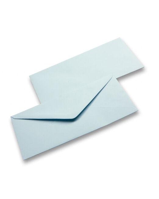 busta da invito azzurra