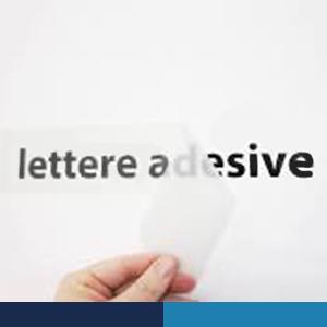 lettere adesive